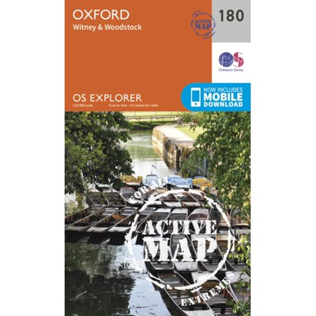 OS Explorer Map Active (180) Oxford, Witney and Woodstock (OS Explorer Active Map) (Map)