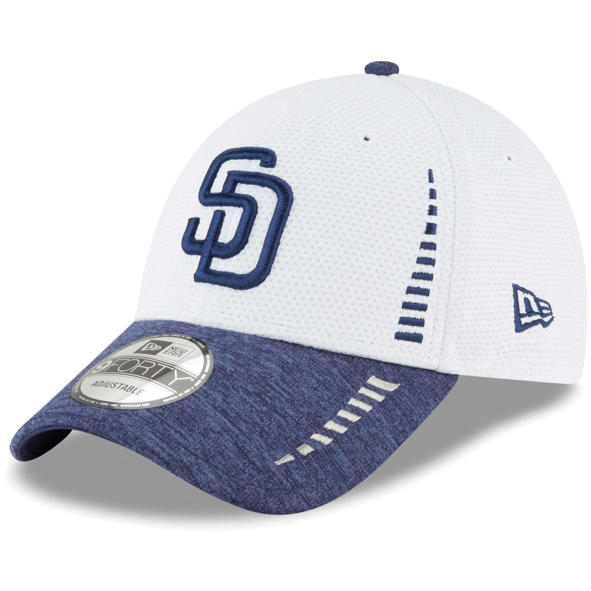 San Diego Padres New Era Speed Tech 9FORTY Adjustable Hat - White - OSFA
