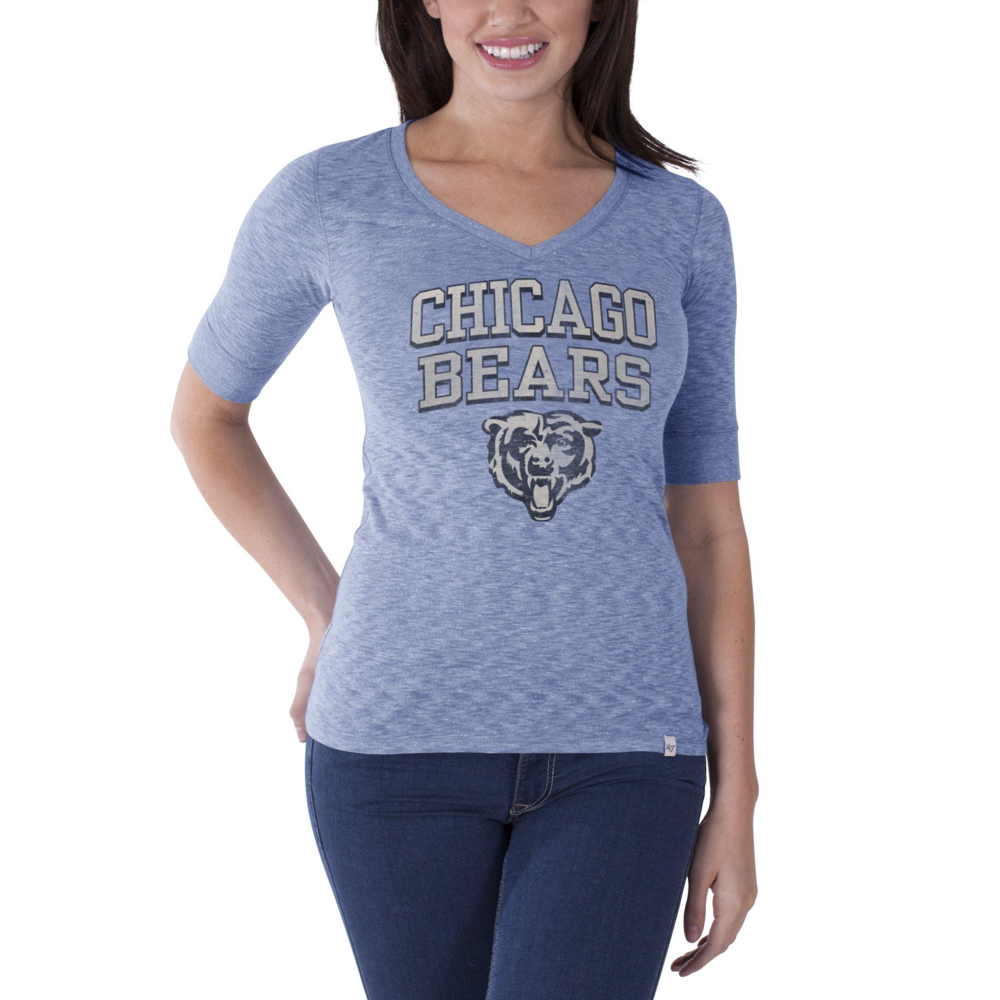 Chicago Bears Olympic Blue Women's Roster T-Shirt