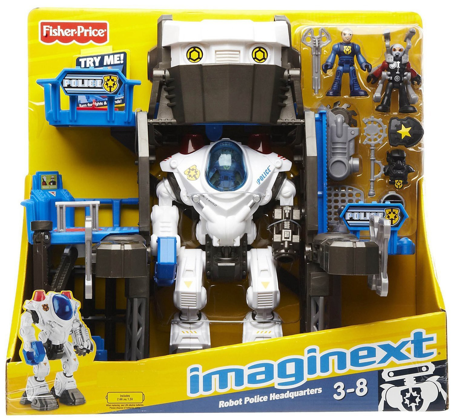 Fisher Price Imaginext Robot Police Headquarters Playset