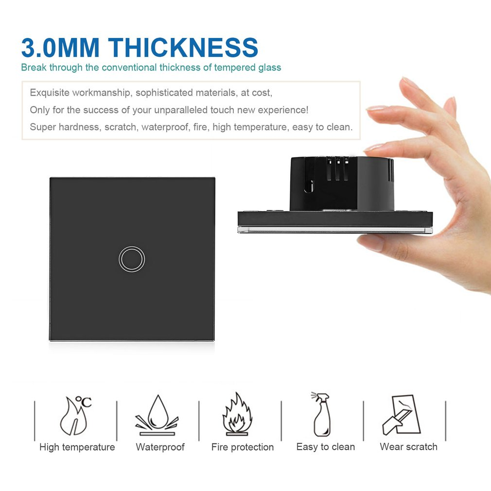 1 Way Smart Light Wall Touch Switch Remote Control For Smart Home EU/US/UK