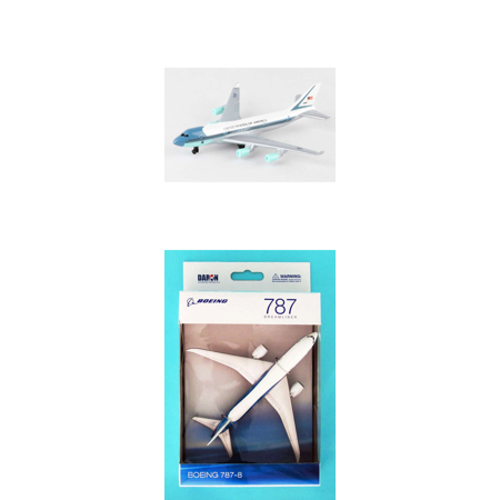 Boeing Air Force One (Air Force One, Boeing Diecast Airplane Package - Two 5.5