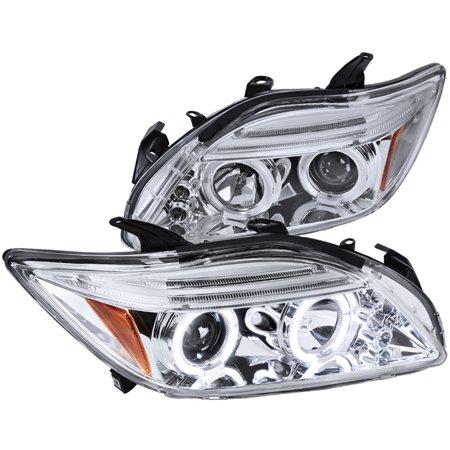 Spec-D Tuning 2002-2010 Scion Tc Led Halo Projector Headlights Chrome 05 06 07 08 09 10 (Left + (Scion Tc Halo Headlights)