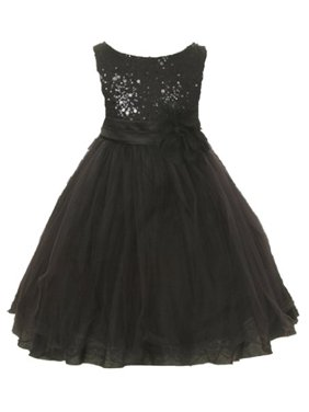 74e99b77413 Product Image Kids Dream Girls Black Tulle Party Dress with Sparkles 5 6