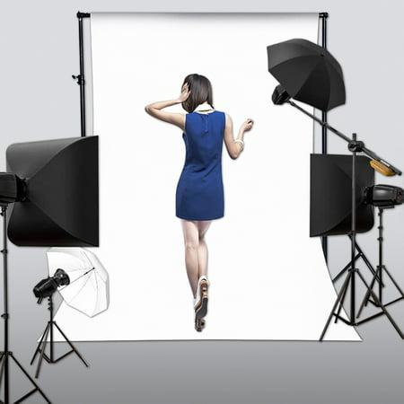 150cm x 210cm White Wall Vinyl Cloth Photography Backdrop Photo Background Studio Props - image 3 de 4