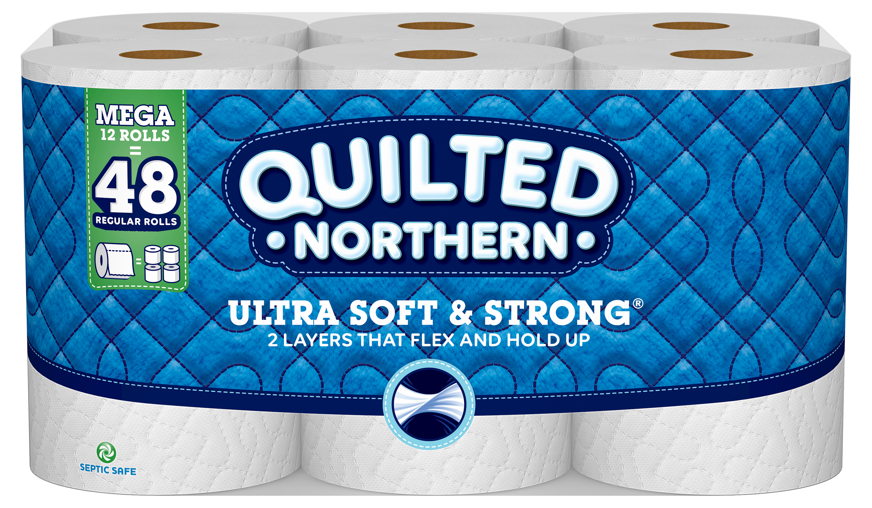 Quilted Northern Ultra Soft & Strong Toilet Paper, 12 Mega Rolls by GP Consumer Products Operations, Lp