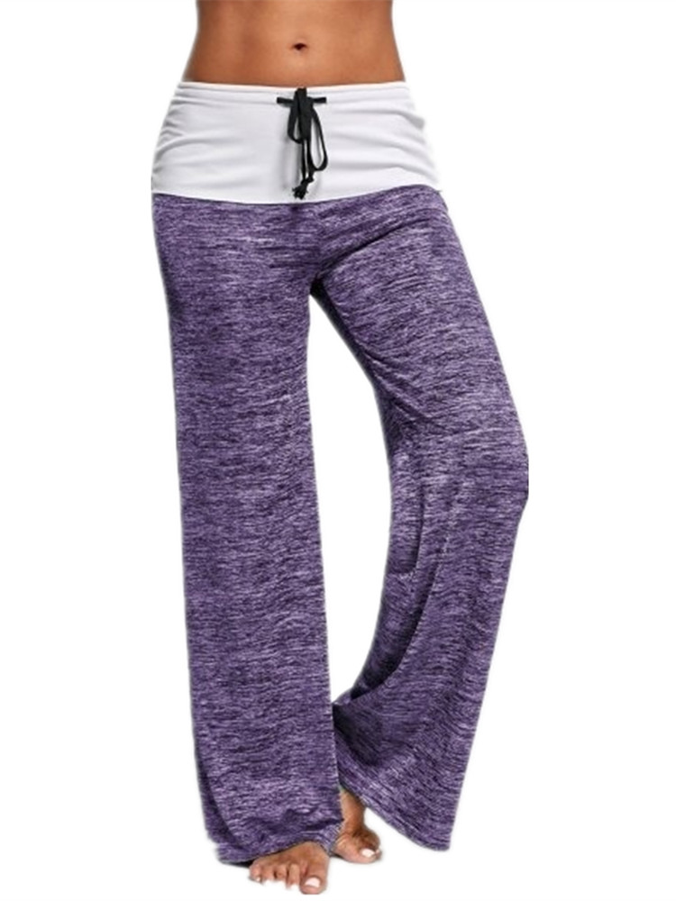 Wide Leg Pants for Women Elastic Waist Sport Yoga Trousers