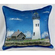 Betsy Drake HJ743 Scituate MA Lighthouse Large Indoor-Outdoor Pillow 16 in. x 20 in.