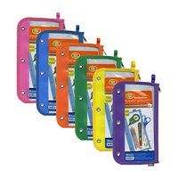 """BAZIC 11.5"""" x 6.5"""" 3-Ring Clear Pencil Pouch(Pack of 24 )"""