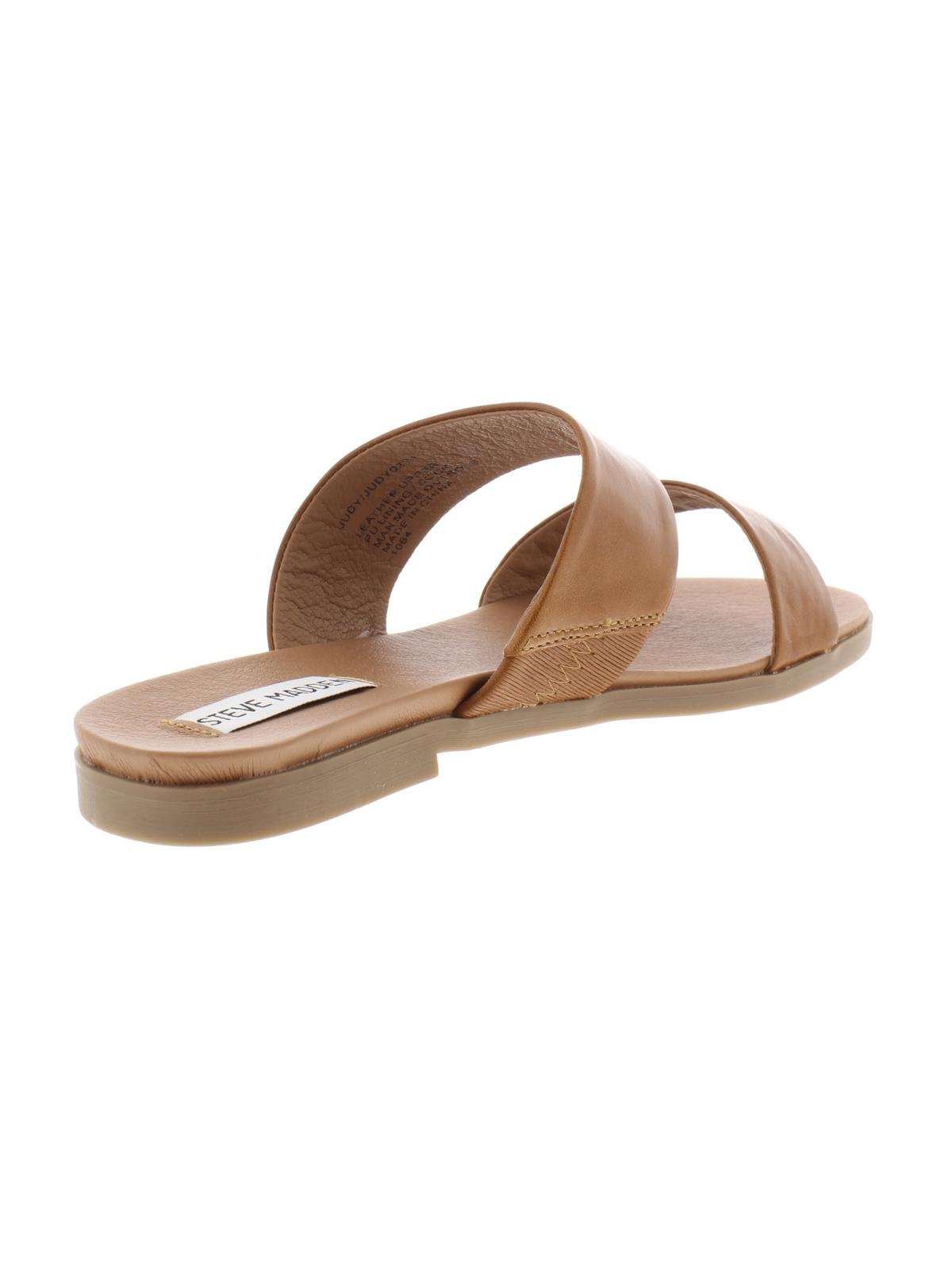 c2ecc1270db Steve Madden - Steve Madden Womens Judy Leather Open Toe Casual Slide  Sandals - Walmart.com