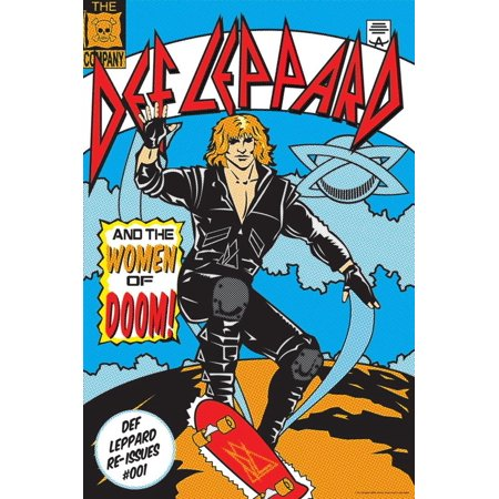 Def Leppard and the Women of Doom! Poster Wall Art Woman Art Poster