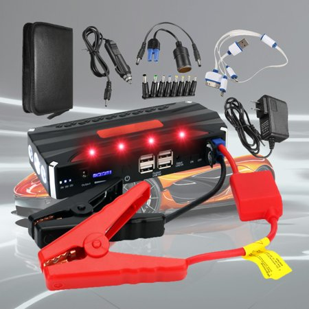 12V 68800mAh Car Jump Starter Rechargeable Battery Emergency Power Bank Starter 4USB Multi-Function