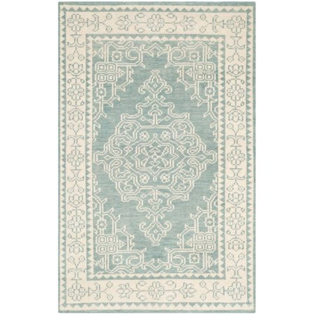 Safavieh Kenya 2' X 3' Hand Knotted Wool Pile Rug in Ivory and Blue - image 8 of 10
