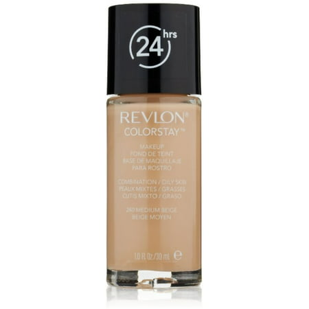 Revlon Colorstay for Combo/Oily Skin Makeup, Medium Beige [240] 1 (Best Everyday Makeup For Oily Skin)