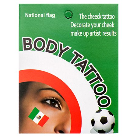 New 376260  Body Tattoo Temporary Mexican Flag (12-Pack) Party Set Cheap Wholesale Discount Bulk Party Supplies Party Set Socks - Party Supplies Wholesale
