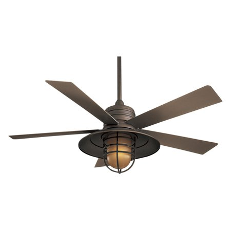 Minka Aire F582-ORB Rainman 54 in. Indoor / Outdoor Ceiling Fan - Oil Rubbed Bronze Minka Aire Bronze Oil Rubbed Ceiling Fan