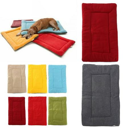 Dog Puppy Cat Soft Warm Sleep Mat Fleece Cushion Small Large Pet Blanket Bed