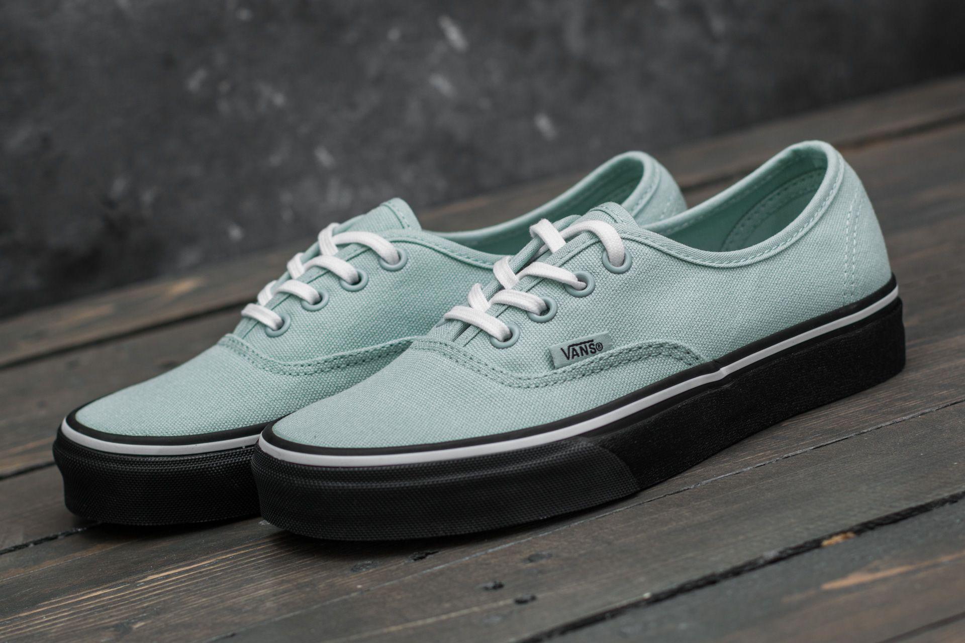 Vans Authentic Black Outsole Harbor Grey Men's Classic Skate Shoes Size 10