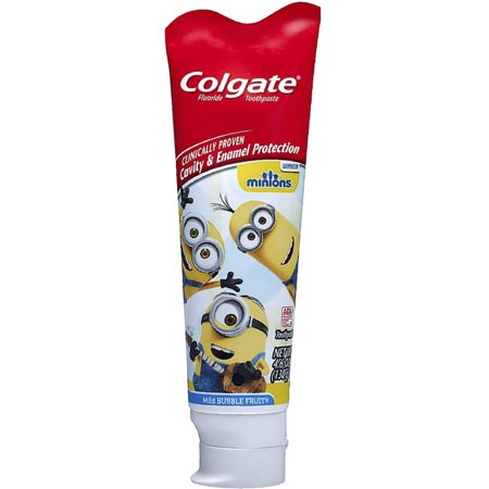 Mild Bubble Fruit (Colgate Kids Minions Toothpaste, Mild Bubble Fruit 4.60 oz (Pack of)