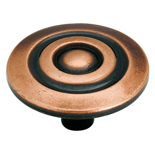 Allison Value 1-1/2 in (38 mm) Diameter Antique Copper Cabinet Knob