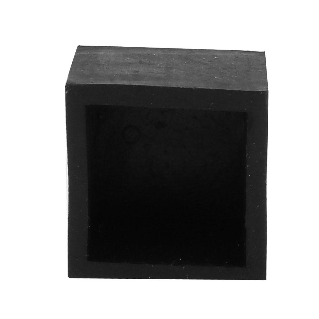 25mmx25mm Square Chair Leg Floor Protectors Table Feet Tips Covers Caps 8pcs - image 1 de 3