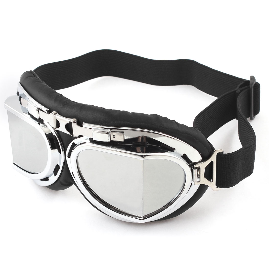 Unique Bargains Cycling Skiing Ski Racing Silver Tone Lens Goggles Eyewear Protective Glasses by