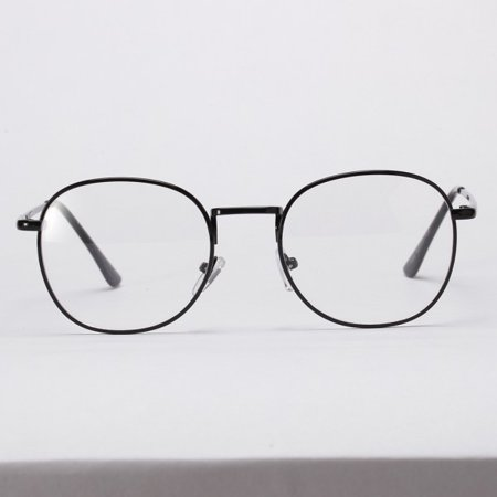 Men Women Vintage Metal Myopia Eyewear Square Optical Glasses Retro Frame Bright (Mens Optical Glasses 2017)