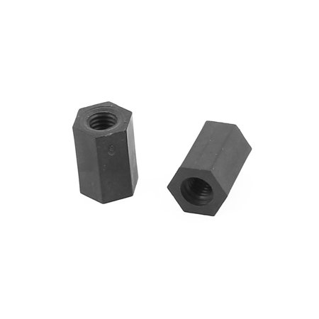 100 Pcs M3 x 8mm Black Nylon Hex Hexagonal Threaded Spacer Support - image 1 of 2