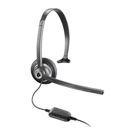 Plantronics Over The Head Headset - Plantronics M214C Over the Head Corded Headset w/ In-Line Volume Control