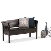 Atlin Designs Entryway Storage Bench in Espresso Brown