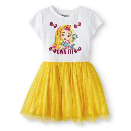 Sunny Day Girls' Foil Mesh Dress - Anna Coronation Day Dress