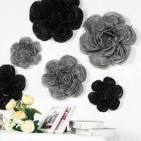 "Efavormart 6 Pack Assorted Size Giant Paper Peony Flowers Decor for Centerpieces Arrangement Party  - 12""   16""   20"