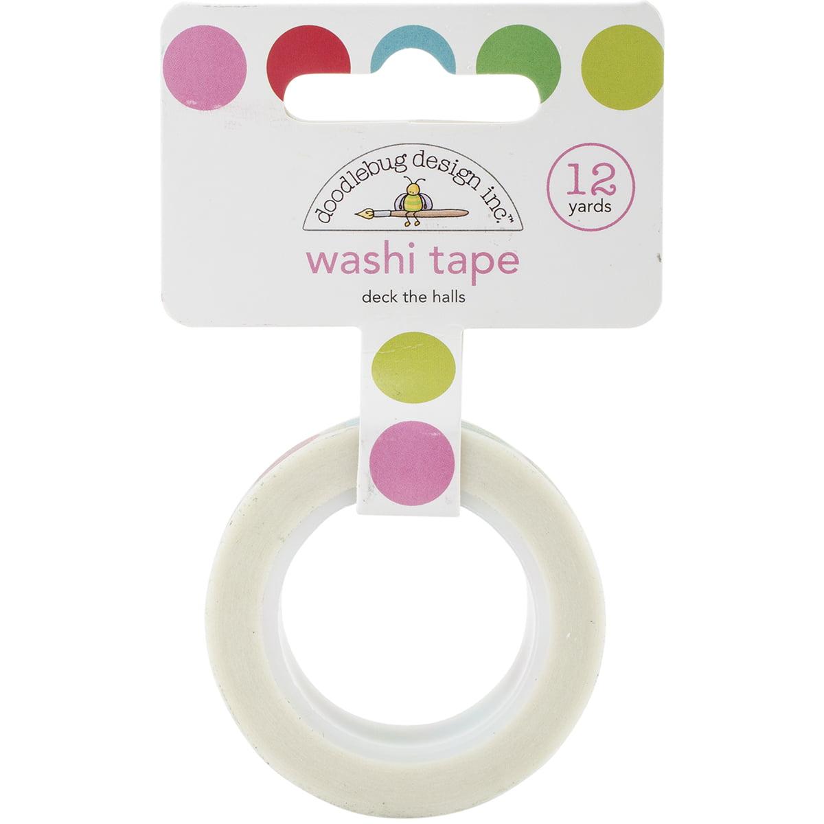 Doodlebug Washi Tape 15mm X 12yd-Sugarplums Deck The Halls