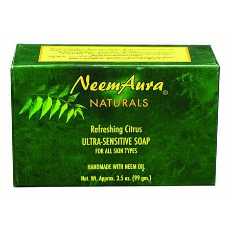 Neem Aura Naturals Neem Soap, Citrus, 3.5 Oz