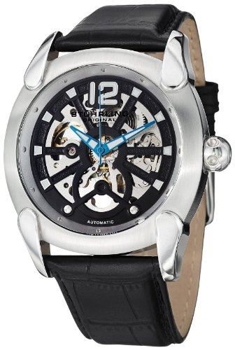 Stuhrling 725 01 Men's Gen X Axial Automatic Skeleton Stainless Steel Watch