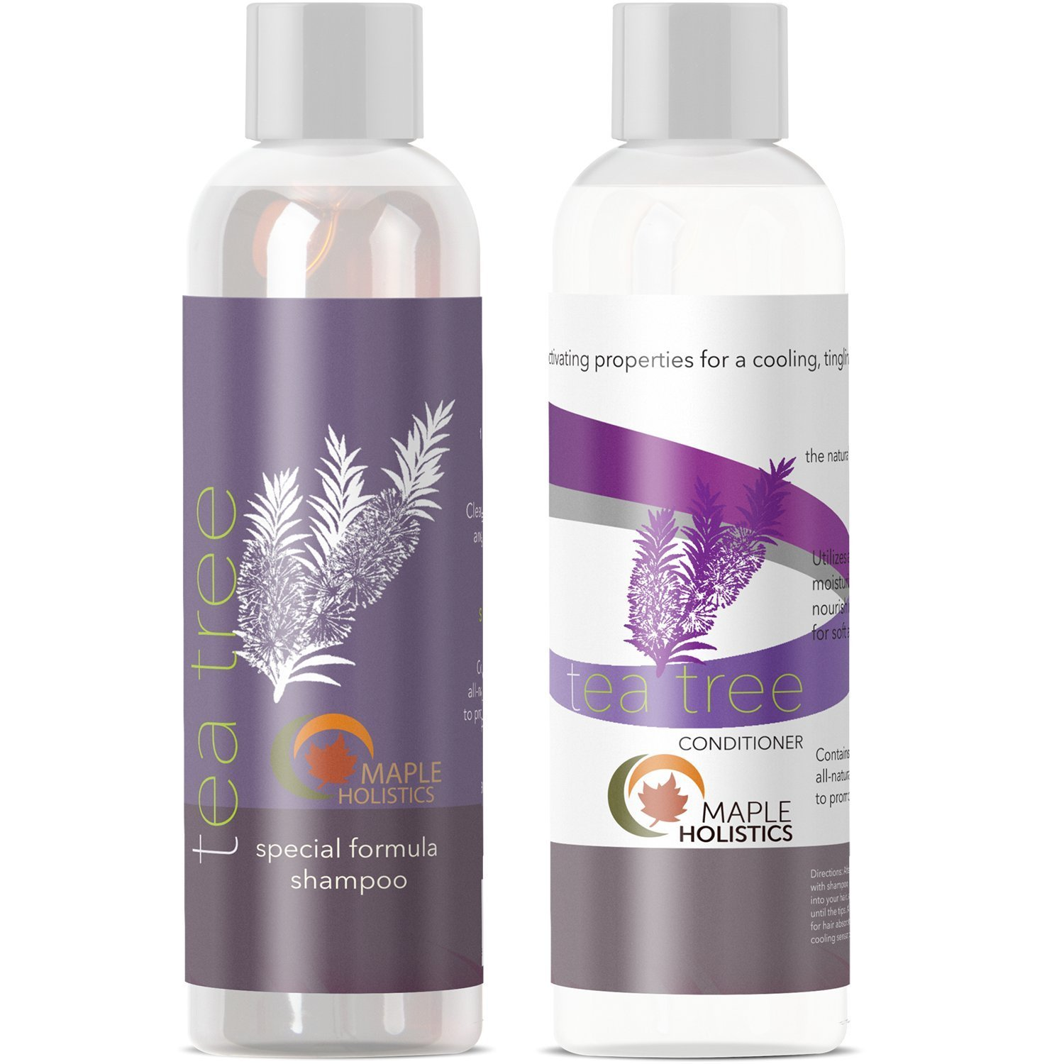 Maple Holistics Tea Tree Oil Shampoo & Conditioner, Natural Anti Dandruff Treatment, Natural Hair Care Product, Set