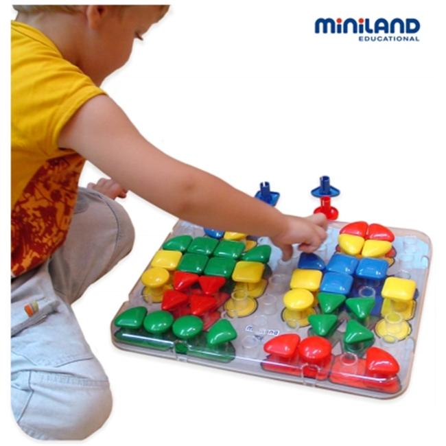 Miniland Educational 95075 Set 4 transparent super peg boards