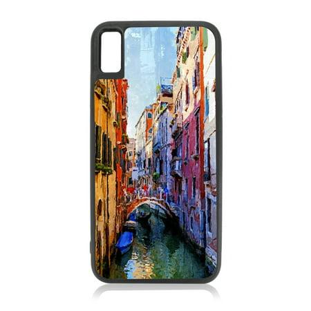 buy online d6824 52c38 Watercolor Venice Gondola Painting Design Black Rubber Case Cover for the  Apple iPhone 10 / iPhone X / iPhone XS - iPhone 10 Case - iPhone X Case -  ...