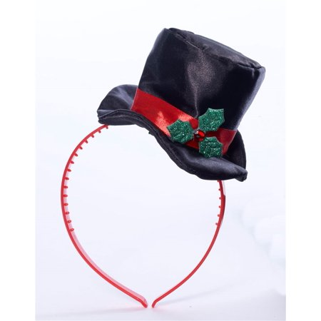 MINI TOP HAT WITH MISTLETOE -