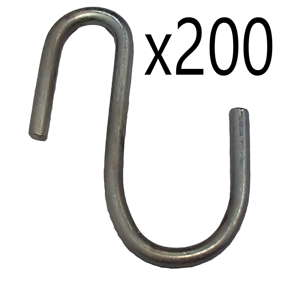 200 S Hooks f Shade Tarp Strap S-Hook Hanging Plant Pot Bucket Rope Hose Hook