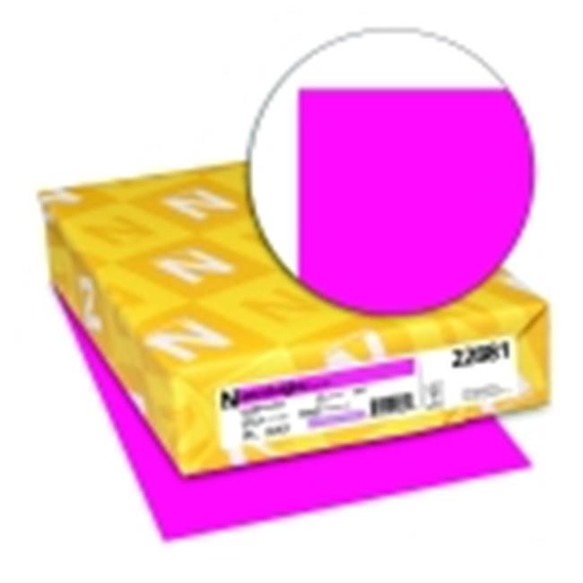 Astrobrights 8.5 x 11 in. Paper Acid-Free Card Stock Fireball Fuchsia, Pack 250 by Astrobrights