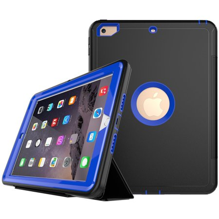 Spencer For Apple iPad Mini 1 2 3 Retina Shockproof Smart Flip Stand Case Folio Magnetic Cover Blue (Apple Ipad Mini2 Smart Case)