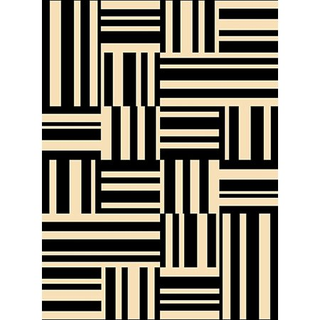 - Creative Home Modern Tempo Area Rugs - 1279-98 Contemporary Stripes Lines Squares Rug 5' 3
