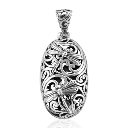 Dragonfly Pendant Necklace 925 Sterling Silver Jewelry for Women