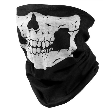 8 Pack Skull Half Face Mask Scarf Seamless Construction, Lightweight UV & Dust Protection Outdoors | Fishing, Hunting, Biking, Hiking Balaclava.](Scary Half Face Mask)