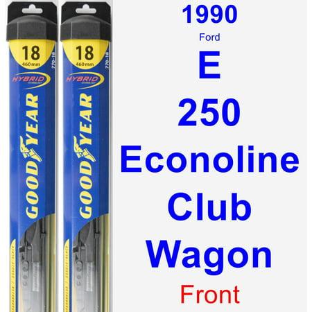 1990 Ford E-250 Econoline Club Wagon Wiper Blade Set/Kit (Front) (2 Blades) -