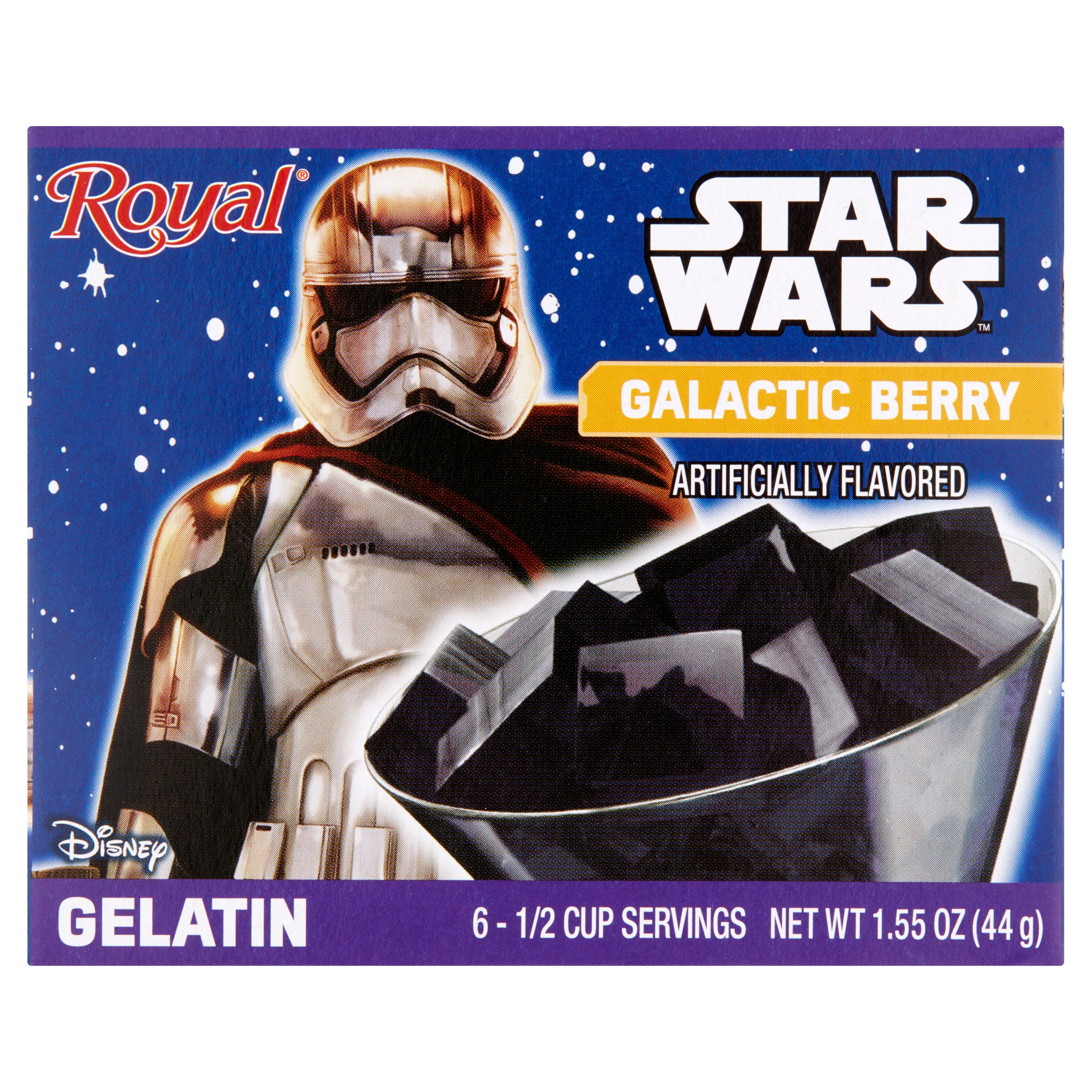 (3 Pack) Royal Disney Star Wars Galactic Berry Gelatin, 1.55 oz
