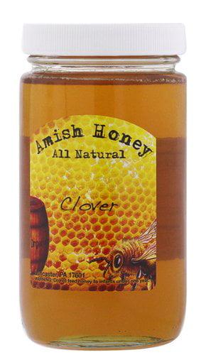 Amish Clover Honey Raw 1LB by