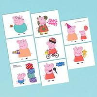Peppa Pig Tattoos (16 Tattoos) - Party Supplies