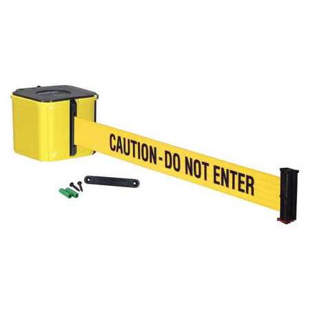 RETRACTA-BELT WM412YW20-CAU-RE Wall Barrier, 20ft -CAUTION DO NOT ENTER